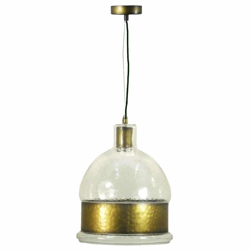 Alexandra Pendant in Antique Brass - Crystal Palace Lighting