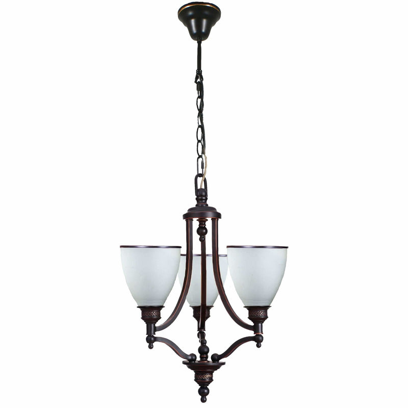 Arizona 3 Light Pendant in Dark Bronze - Crystal Palace Lighting