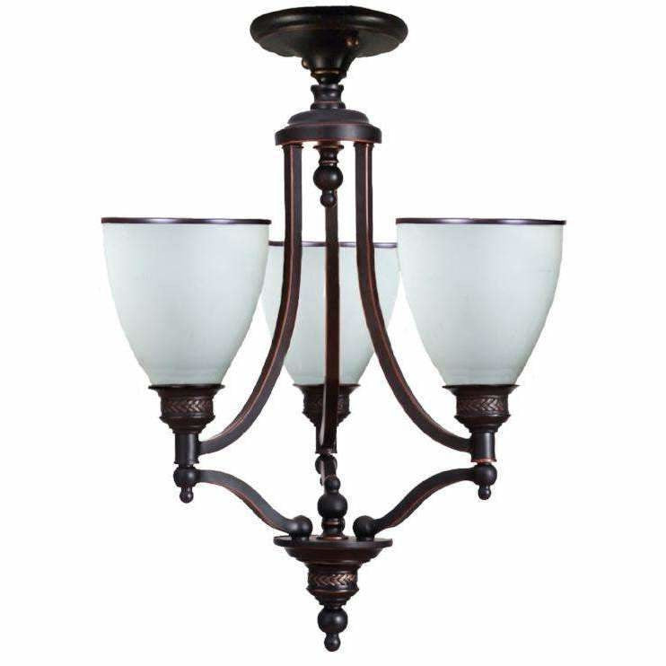 Arizona 3 Light Close to Ceiling Pendant in Dark Bronze - Crystal Palace Lighting