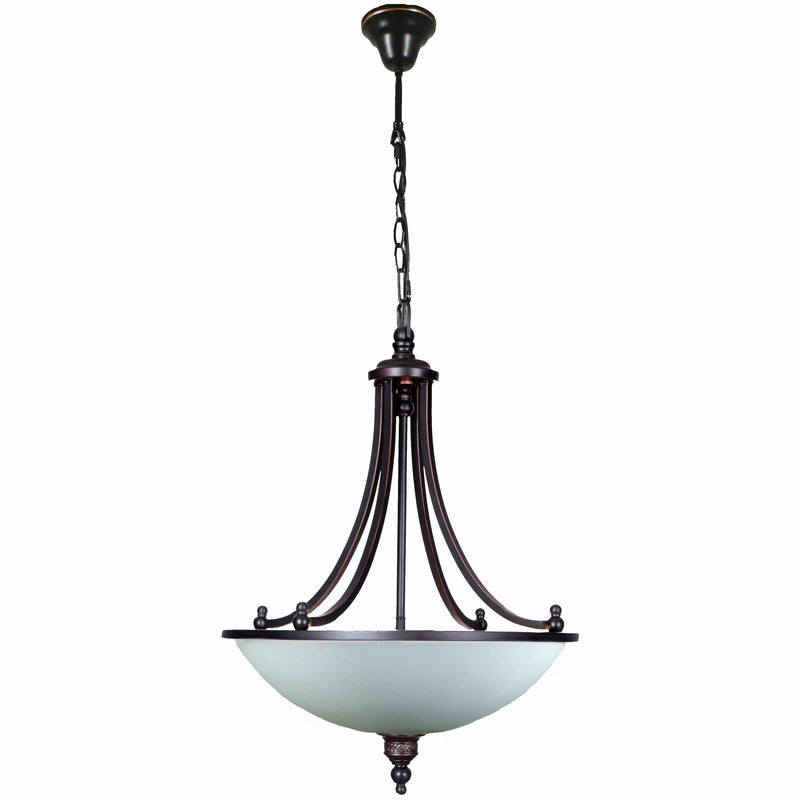 Arizona 3 Light Single Suspension Pendant in Dark Bronze - Crystal Palace Lighting