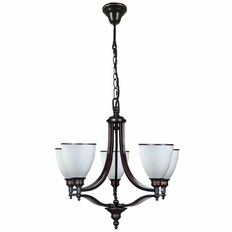 Arizona 5 Light Pendant in Dark Bronze - Crystal Palace Lighting