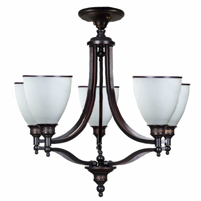 Arizona 5 Light Close to Ceiling Pendant in Dark Bronze - Crystal Palace Lighting