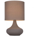 Concrete Colour Touch Lamp with Grey Shade - Crystal Palace Lighting