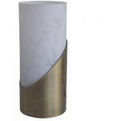 Touch Table Lamp in Antique Brass - Crystal Palace Lighting