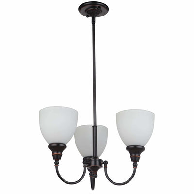 Benson 3 Light Pendant with Rod Set in Bronze, 2 Orientation Options - crystal-palace-lighting