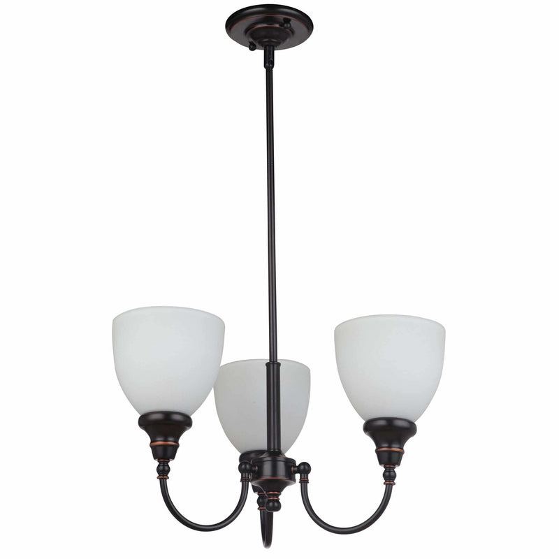 Benson 3 Light Pendant with Rod Set in Bronze, 2 Orientation Options - Crystal Palace Lighting