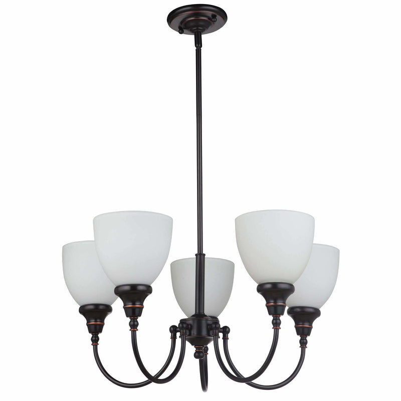 Benson 5 Light Pendant with Rod Set in Bronze, 2 Orientation Options - Crystal Palace Lighting