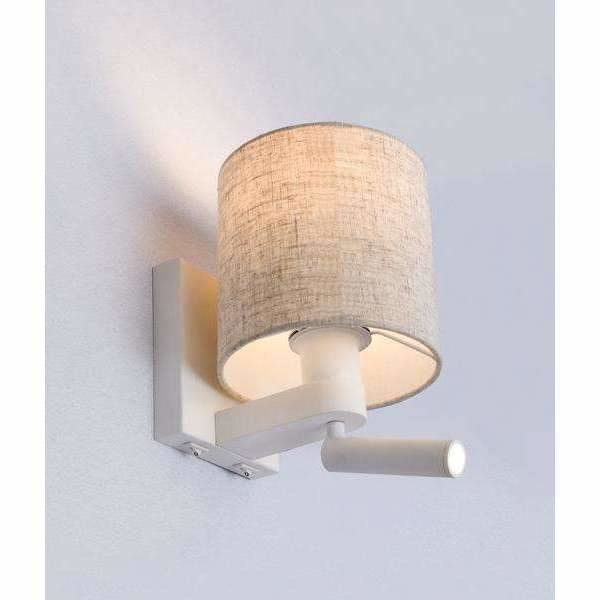 Brighton E27 Wall Lamp with In-Built Adjustable Reading Light - Crystal Palace Lighting