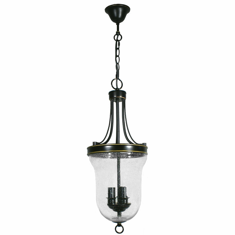 Carrington 3 Light Pendant in Bronze and Clear - Crystal Palace Lighting