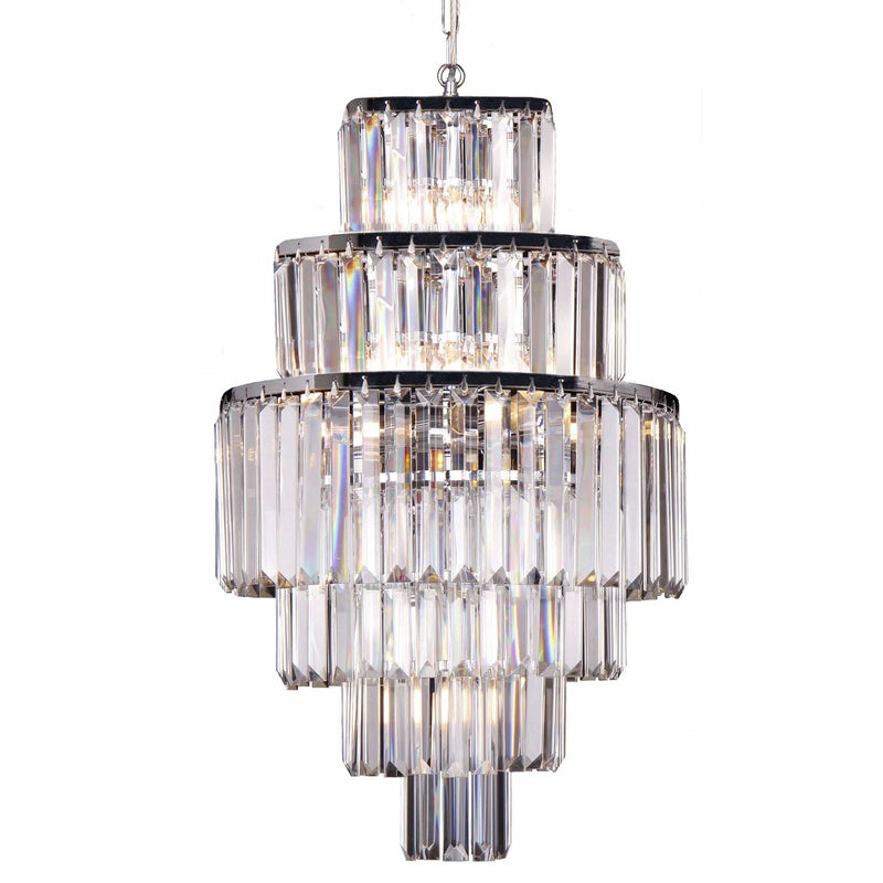 Celestial 6 Tier 9 Light Chandelier in Chrome with Clear Crystals - Crystal Palace Lighting