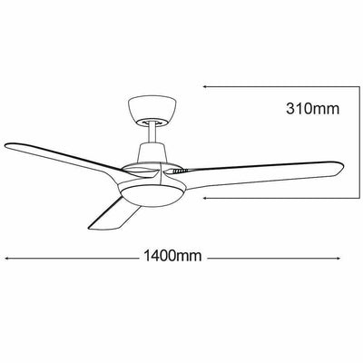 Coolmaster Cruise 56″ Ceiling Fan - Crystal Palace Lighting