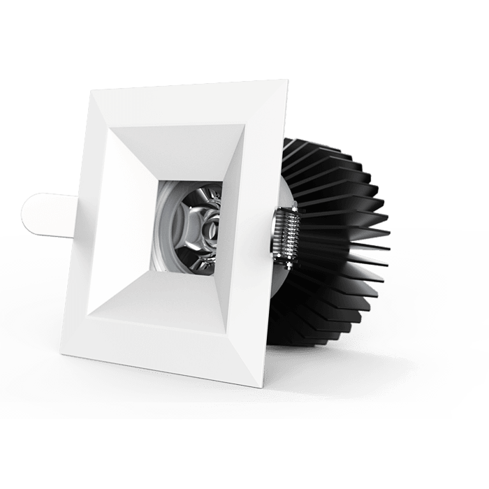 D900 Cube 13W LED Downlight in Black or White - Crystal Palace Lighting