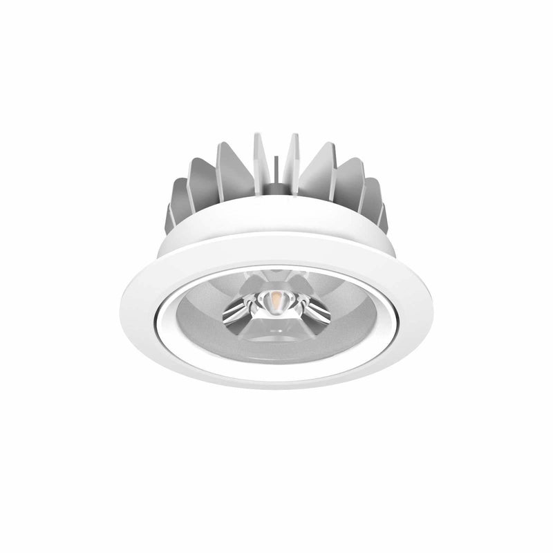 D900 Classic LED Downlight 15.7W in Silver or White - Crystal Palace Lighting