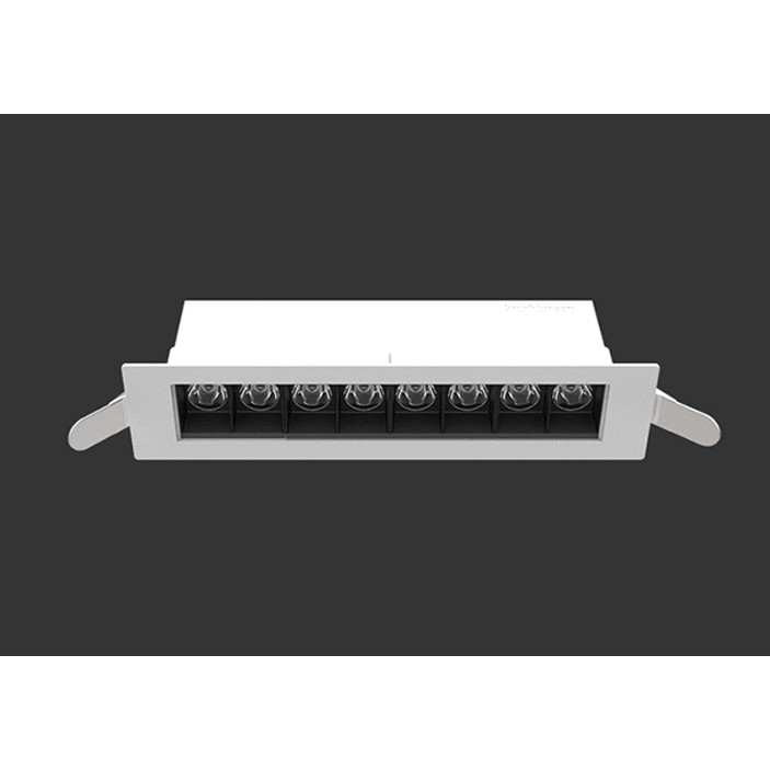 D900 Recessed Linear 16W LED Downlight in Black or White - Crystal Palace Lighting