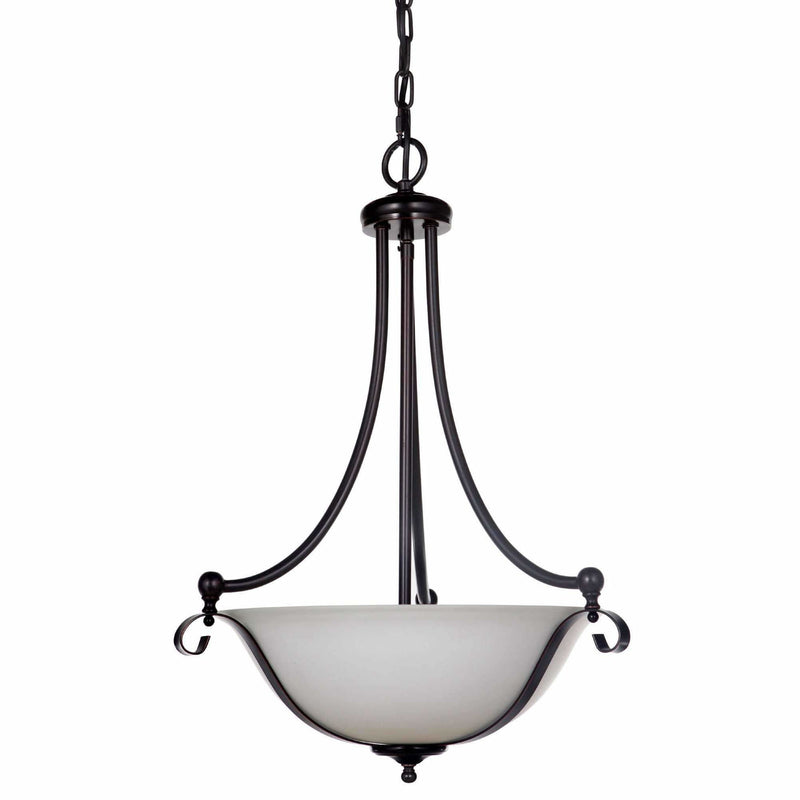 Dallas Chrome 3 Light Suspension Pendant, 2 Colour Options - Crystal Palace Lighting