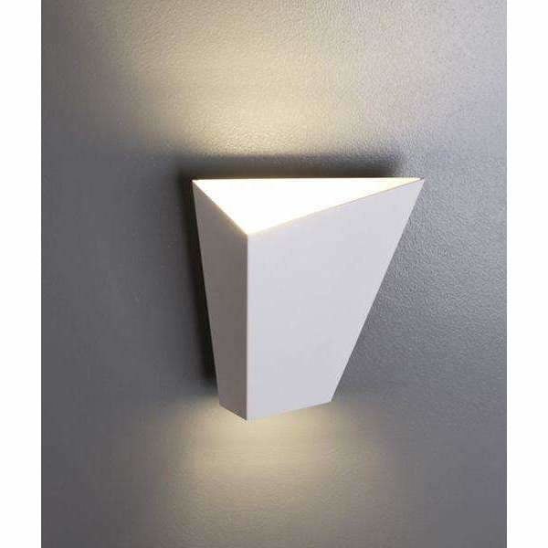 Delhi LED Interior Wall Light in Sand White - Crystal Palace Lighting