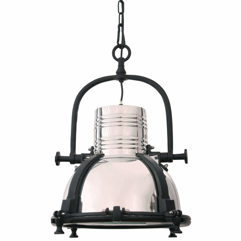 D'Epoca Conductor Pendant in Steel and Black Aluminium - Crystal Palace Lighting
