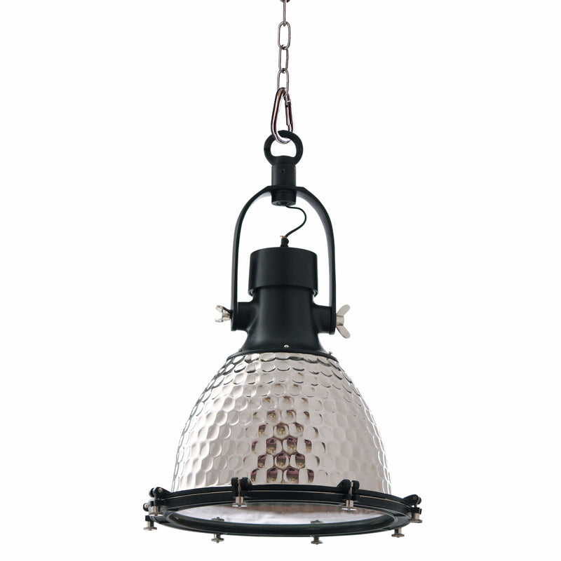 D'Epoca Dielectric Pendant in Chrome and Black - Crystal Palace Lighting