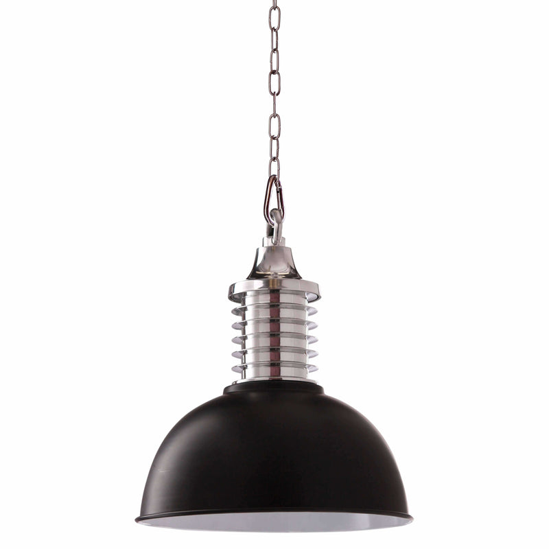 D'Epoca Foundry Pendant in Black and Chrome - crystal-palace-lighting
