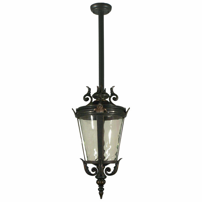Albany Exterior Pendant with Rod Set in Antique Bronze - crystal-palace-lighting