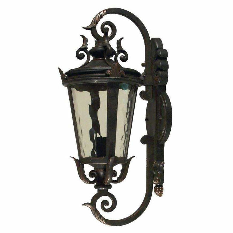 Albany Exterior Coach Wall Light in Antique Bronze, 3 Size Options - Crystal Palace Lighting