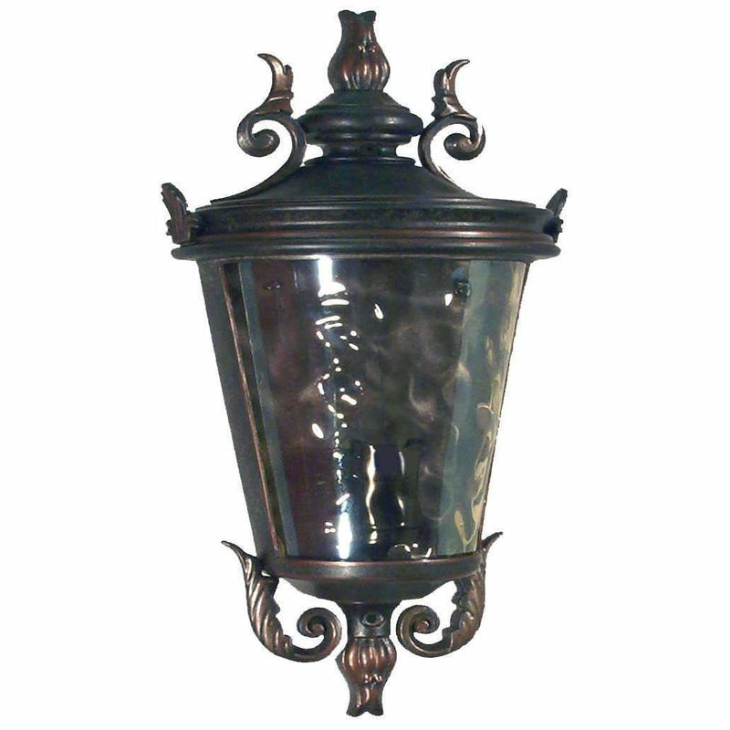Albany Exterior Wall Sconce in Antique Bronze - Crystal Palace Lighting