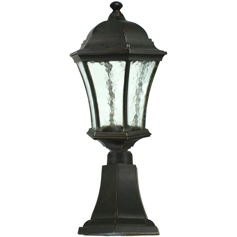 Strand Exterior Pillar Mount in Antique Bronze, 2 Size Options - Crystal Palace Lighting