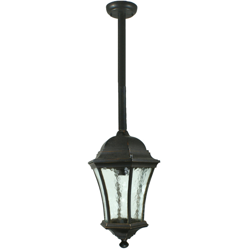 Strand Pendant with Rod Set in Antique Bronze - Crystal Palace Lighting