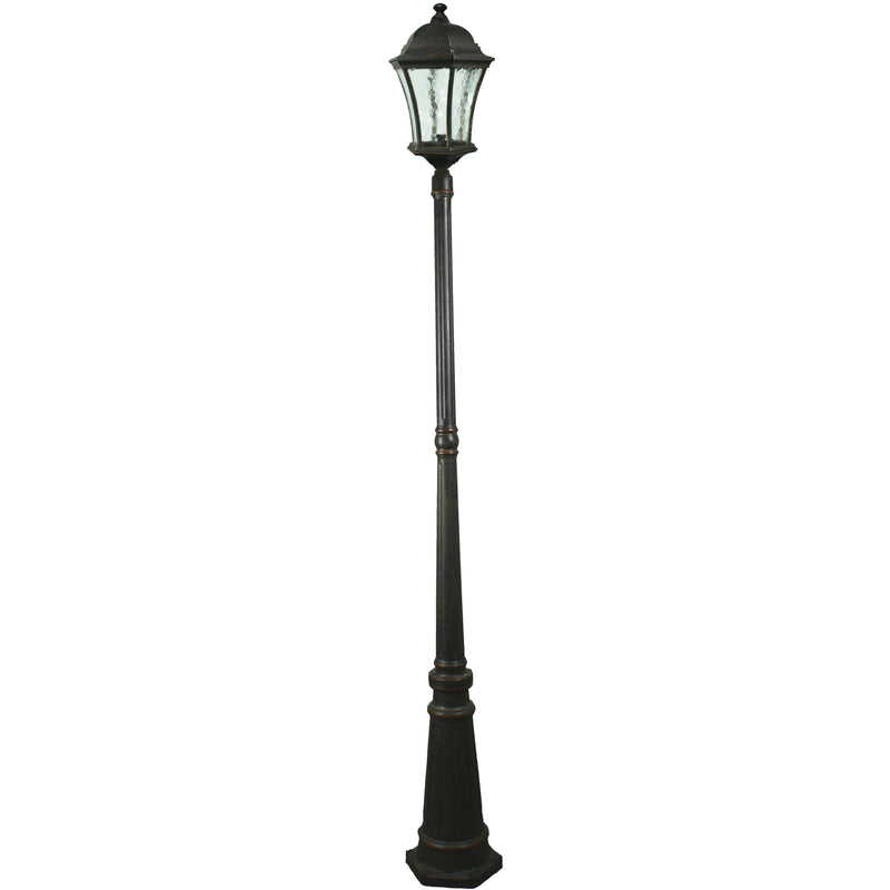 Strand 3 Piece Lamp Post in Antique Bronze - Crystal Palace Lighting