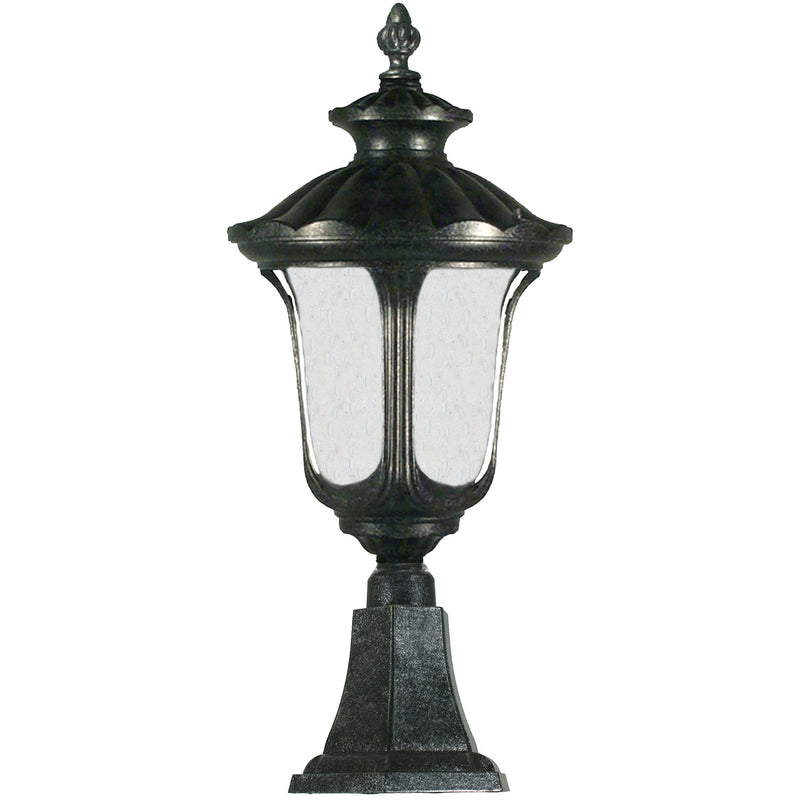 Waterford Exterior Pillar Mount in Antique Black, 2 Size Options - Crystal Palace Lighting