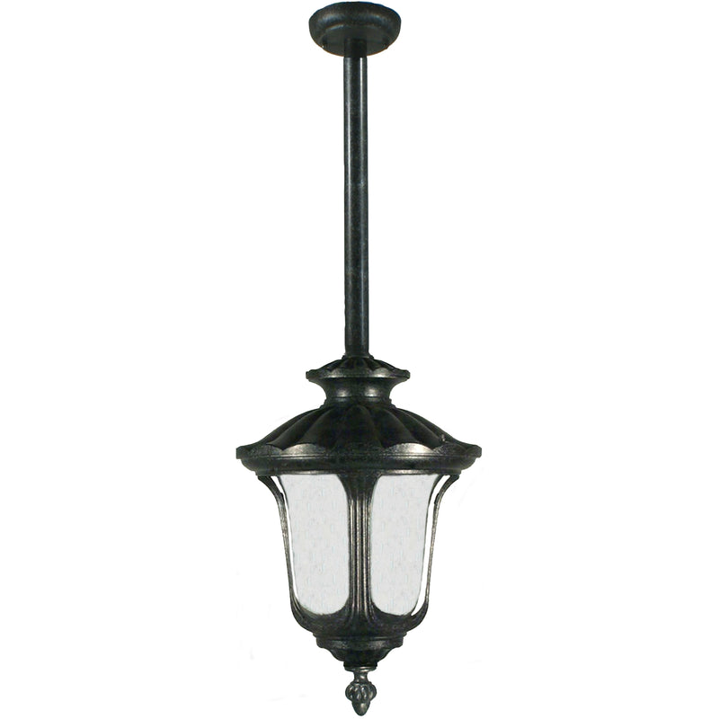 Waterford Exterior Pendant with Rod Set in Antique Black