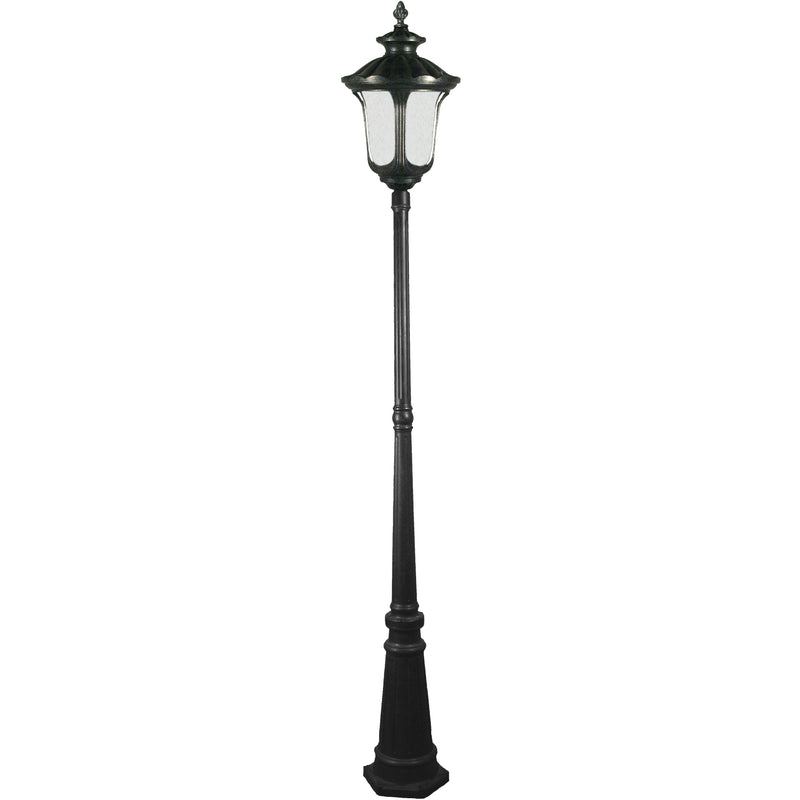 Waterford 3 Piece Lamp Post in Antique Black - Crystal Palace Lighting