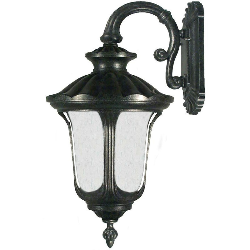 Waterford Exterior Coach Wall Light in Antique Black, 3 Size Options - Crystal Palace Lighting