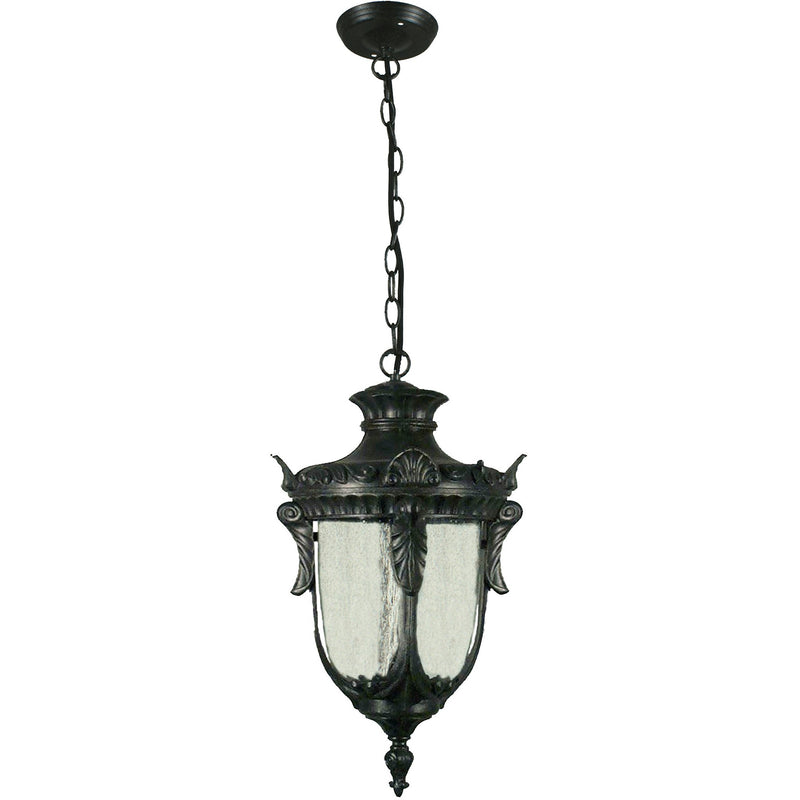 Wellington Pendant in Antique Black - crystal-palace-lighting