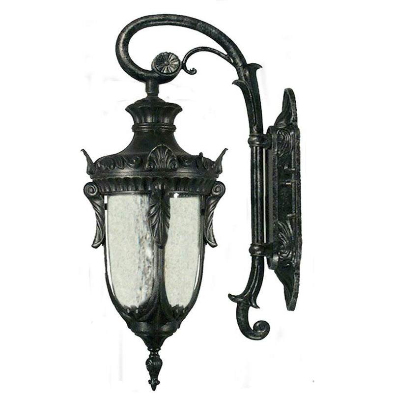 Wellington Exterior Coach Wall Light in Antique Black, 3 Size Options - crystal-palace-lighting