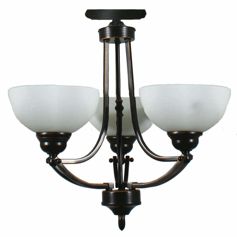 Houston 3 Light Flush Light, 2 Colour Options - Crystal Palace Lighting