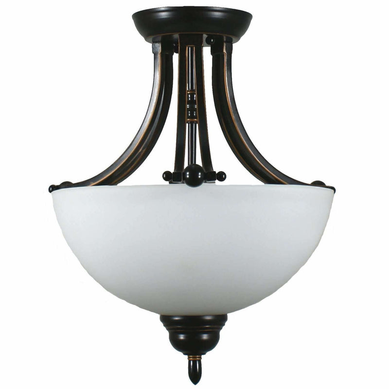 Houston 2 Light Semi Flush Light, 2 Colour Options - Crystal Palace Lighting