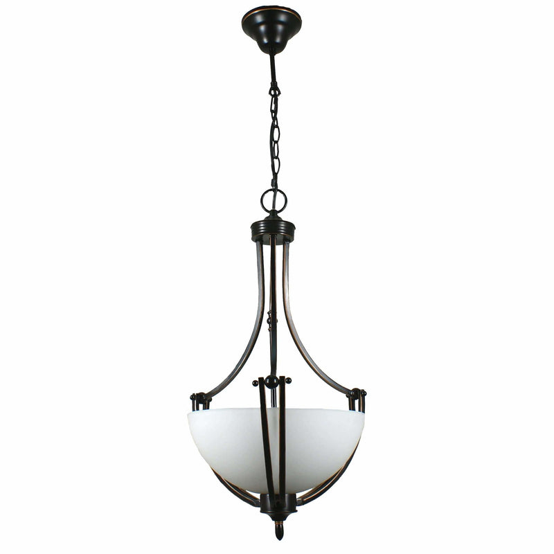Houston 2 Light Single Suspension Pendant, 2 Colour Options - crystal-palace-lighting