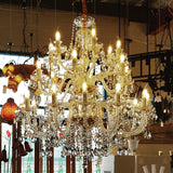 Marchand 24 Light Royal Crystal Chandelier, 2 Colour Options - Crystal Palace Lighting