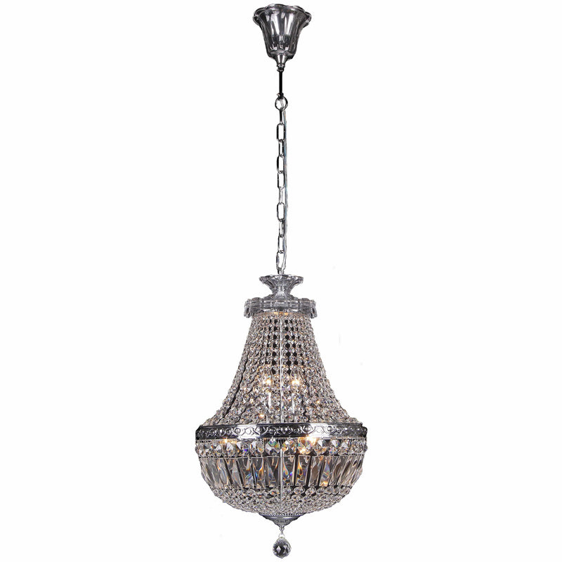 Le Pavillon 3 Light Crystal Basket Chandelier, 2 Colour Options - Crystal Palace Lighting