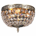 Le Pavillon 3 Light Flush Crystal Chandelier, 2 Colour Options - crystal-palace-lighting