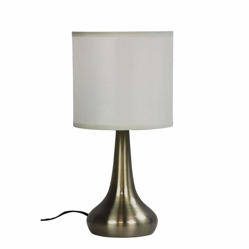 Lola Touch Lamp in Brushed Chrome Silver - Crystal Palace Lighting