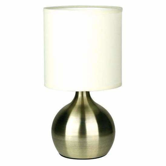 Lotti Touch Lamp in Antique Brass - Crystal Palace Lighting