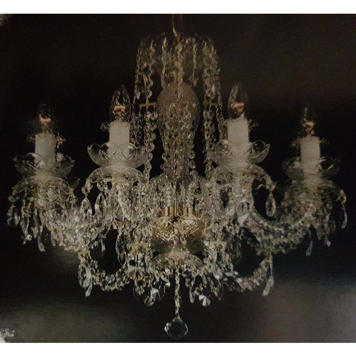 Marchand 8 Light Royal Crystal Chandelier - crystal-palace-lighting