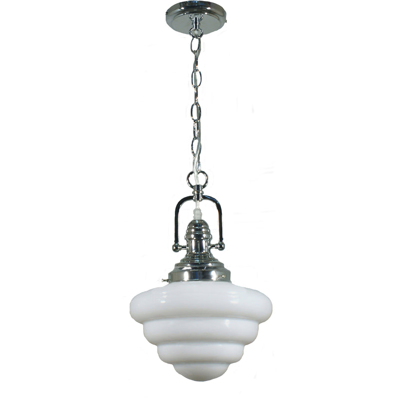 Paramount Pendant in Chrome with Beehive Shade - crystal-palace-lighting