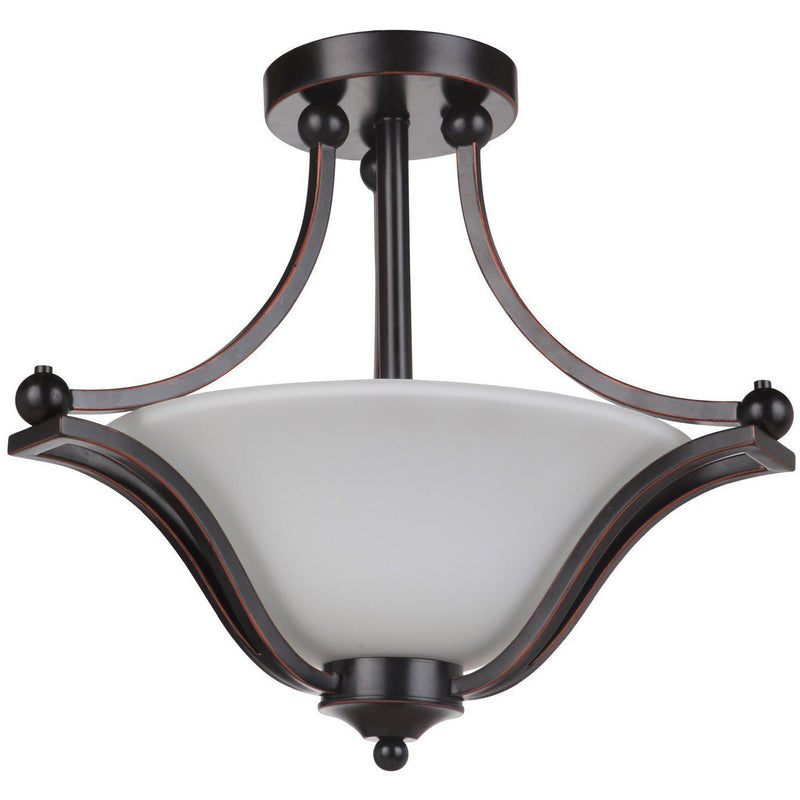 Rivoli 3 Light Semi Flush Light, 2 Colour Options - Crystal Palace Lighting