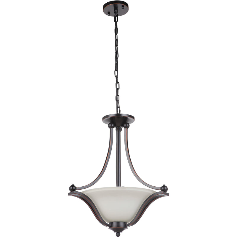 Rivoli 3 Light Single Suspension Pendant, 2 Colour Options - Crystal Palace Lighting