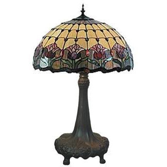 Red Tulip Table Lamp - Crystal Palace Lighting