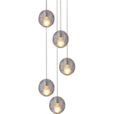 Dimple Glass with Chrome Plate Sphere Pendant - Crystal Palace Lighting