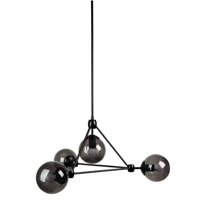Lunar 4 Light Pendant in Matte Black - crystal-palace-lighting